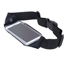 Waterproof Running Gym Jogging Waist Belt Black For Huawei Mate 7/Honor 6