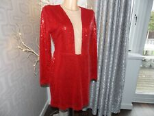 Rare London Red Sequin Dress 12