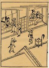 UW»Estampe japonaise scène dans les quartiers réservés Moronobu H51 99 E14