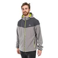 Trespass Morsley Mens Fleece Full Zip Jacket Lightweight Hooded Coat for Running