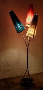 50er 60er Jahre Tütenlampe seltene Stehlampe Tütenleuchte Rockabilly Vintage