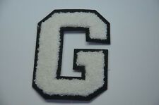 "4"" G LETTER LETTERMAN VARSITY COLLEGE JACKET Embroidered Sew On Patch Badge"