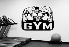 Gym Logo Wall Sticker Vinyl Decal Art Cross Fitness Sports Room Window Decor f28