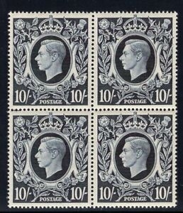 1939 Great Britain. SC#251. SG#478. Mint, Never Hinged, VF. Block of 4