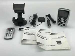 JVC Sirius Radio KT-SR2000 Car Kit Antenna Dock & Remote - Working