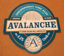 Beer pump badge clip FYNE brewery AVALANCHE cask ale pumpclip front Scotland