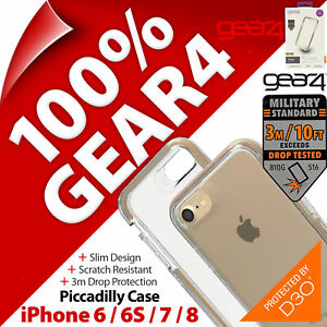 """Gear4 Piccadilly D3O 3m Drop Case for Apple iPhone 6, 6S, 7, 8, SE 2020 (4.7"""")"""