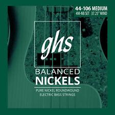 GHS 4M-NB Balanced Nickels Pure Nickel Bass Guitar Strings - Medium