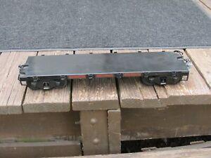 BUDDY L T REPRODUCTIONS TRAIN BLACK FLAT CAR OUTDOOR RAILROAD