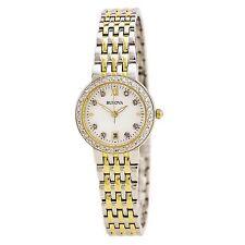 Bulova Women's 98R211 Quartz Diamond Dial and Markers Two Tone Dress Watch