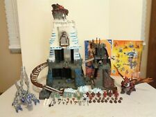 2004 Mega Bloks Dragons Fire Ice #9858 Dragon Mountain Building Set Complete