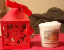 YANKEE CANDLE WINTER GLOW VOTIVE SAMPLER IN CHRISTMAS SNOWFLAKE GIFT BOX