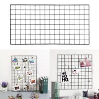 Multi-Function Metal Mesh Grid Panel Decorations Photo Wall Holder Art Display