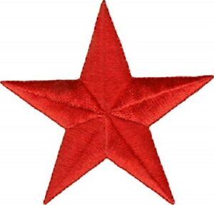 Red Star Patch Embroidered Iron Sew On Applique Corbyn Socialist Biker Rock