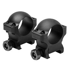 "NcSTAR Tactical 1"" Hunter Rifle Optic Mount Scope Rings 0.9"" Height Black"