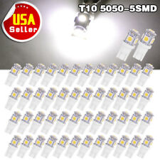 50X Super White 5050 5SMD T10 Wedge LED 192 168 194 2825 W5W Car Side Light Bulb