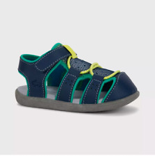 New See Kai Run Basics Spencer Fisherman Sandals Navy Blue Toddler Girls Size 5