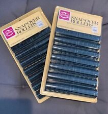 Vintage Goody Snap-Over Rollers Hair Styling New In Package #7574/2 BLACK * 2 *