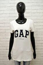 Maglia GAP Donna Taglia Size M Maglietta Shirt Woman Cotone Manica Corta Bianco