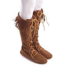 MINNETONKA Stiefel Gr. D 40 Braun Damen Schuhe Boots Shoes Cuir