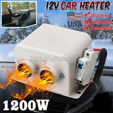 Us 1200W Portable Electric Car Heater Heating Cooling Fan Defroster Demister