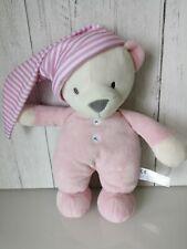 Sainsburys Pink Night Time Teddy Bear Soft Hug Toy Comforter Soother