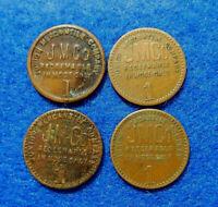 West Virginia Coal Scrip Lot: 4 different $.01 tokens,Junior Mercantile Co.,Omar