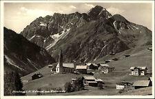 Hirschegg Österreich Steiermark AK ~1940 Widderstein Walsertal Alpen Dorf Kirche