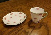 Shelley Fine Bone China Dainty Rosebud 13426. 2 3/8 Mug & Saucer Set Rd272101