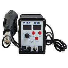 898D SMD 2in1 Soldering Station Hot Air Iron Gun Rework Welder Adjustable