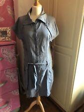 Lovely blue cotton shirt dress by Fat Face size 14