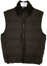 G Star Raw Mens Lockstart Down Puffer Vest Sz Medium Brown Zip Up NEW $360