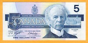 Canada $5 Dollars 1986 P-95e Knight-Dodge Signature UNC ANS Prefix Banknote