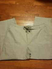 NWOT EWM Size 24 Sage 100% Cotton Pants with side pockets