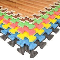 Eva Soft Foam Floor Mats Interlocking Gym Kids Exercise Play Mat Office Garage