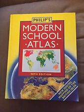 "1994 LARGE ""PHILIP'S MODERN SCHOOL ATLAS"" ILLUSTRATED HARDBACK BOOK"