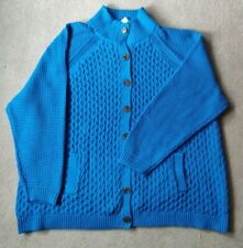 """Lands End """"DRIFTER"""" Turquoise 100% Cotton Cardigan - Size 28/30 - NEW"""