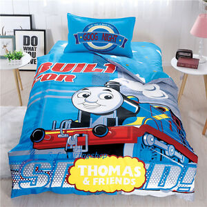 Blue Thomas Single/King Single Bed Quilt/Doona/Duvet Cover Set 100% Cotton New