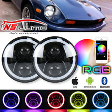 "7"" Inch Angel Eye LED Headlight Hi/Lo For Datsun 240Z 260Z 280Z 280ZX 1970-1978"