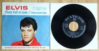 "MINT! Elvis Presley INDESCRIBABLY BLUE Germany 1966 RCA 47-9056 7"" VINYL 45"