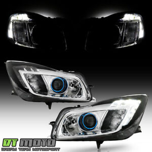 Upgrade Style 2011-2013 Buick Regal [Halogen Type] LED Tube Projector Headlights