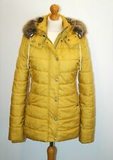 Barbour Shipper Quilt Jacket in Harvest Gold size 8 Womens Ladies Quilted Puffer