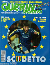 GUERIN SPORTIVO=N°10 1997 ANNO LXXXIV=COPPE EUROPEE=INSERTO N°10 JUVE100 1995-96