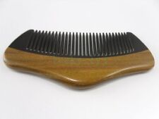 Natural Green Sandalwood & OX Horn Palm Comb Hair Beard Mustache Care Comb