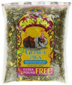 Sunseed Sun Fun Enriched Pellet Based Guinea Pig Food, 3.5 Pound Bag