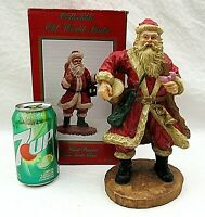 Santa Drum Figurine Old World Hand Painted Vintage Father Christmas