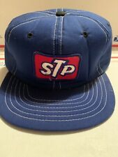 VTG STP Snapback Trucker Hat Mesh Patch Cap Made in USA Red White Blue