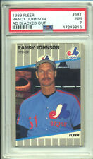 1989 FLEER #381 RANDY JOHNSON AD BLACKED OUT - PSA 7 NM JUST GRADED ⭐️