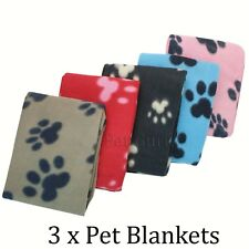 Value pack of 3 Pet Dog Cat Puppy Fleece Blankets Pet Blanket