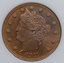 "1911 LIBERTY ""V"" NICKEL NGC MS 63 BRIGHT, COLORFUL, AND WELL STRUCK"